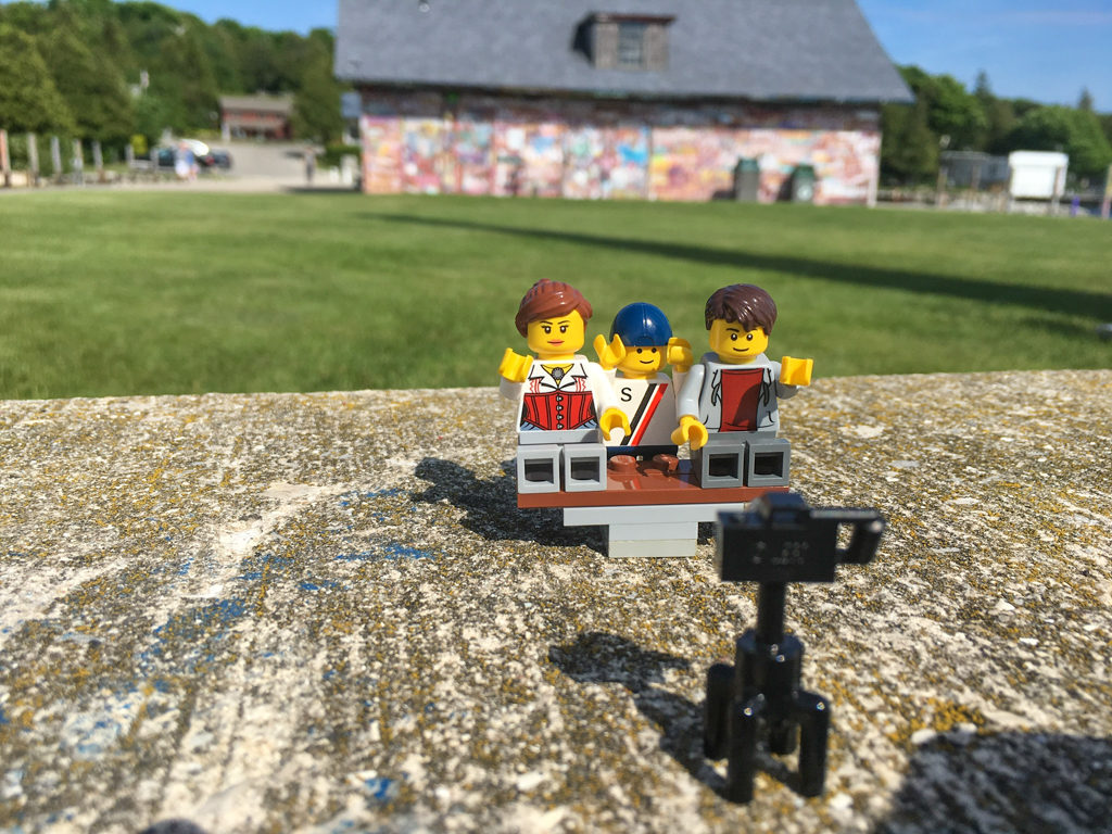 Lego family photo at the Anderson barn