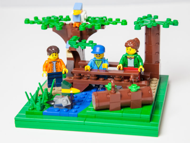 Newport State Park Lego hiking trail by Door County Bricks