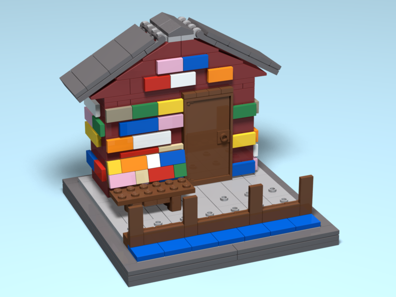 Anderson Dock custom Lego render by Door County Bricks