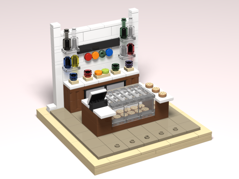 Funky Cookie Studio custom Lego design render by Door County Bricks
