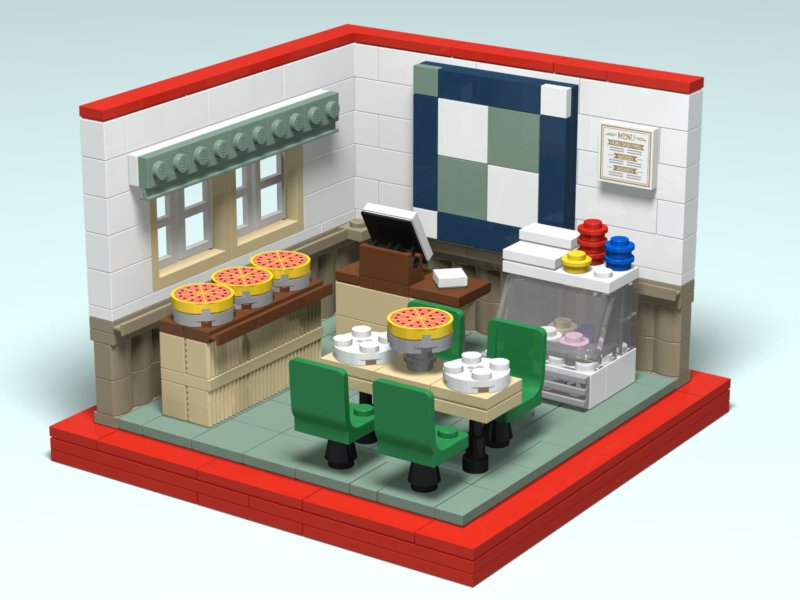 Joe Jo's custom Lego design render by Door County Bricks