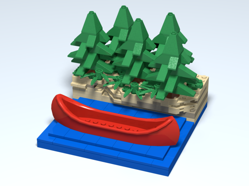 Kayaking custom Lego design by Door County Bricks