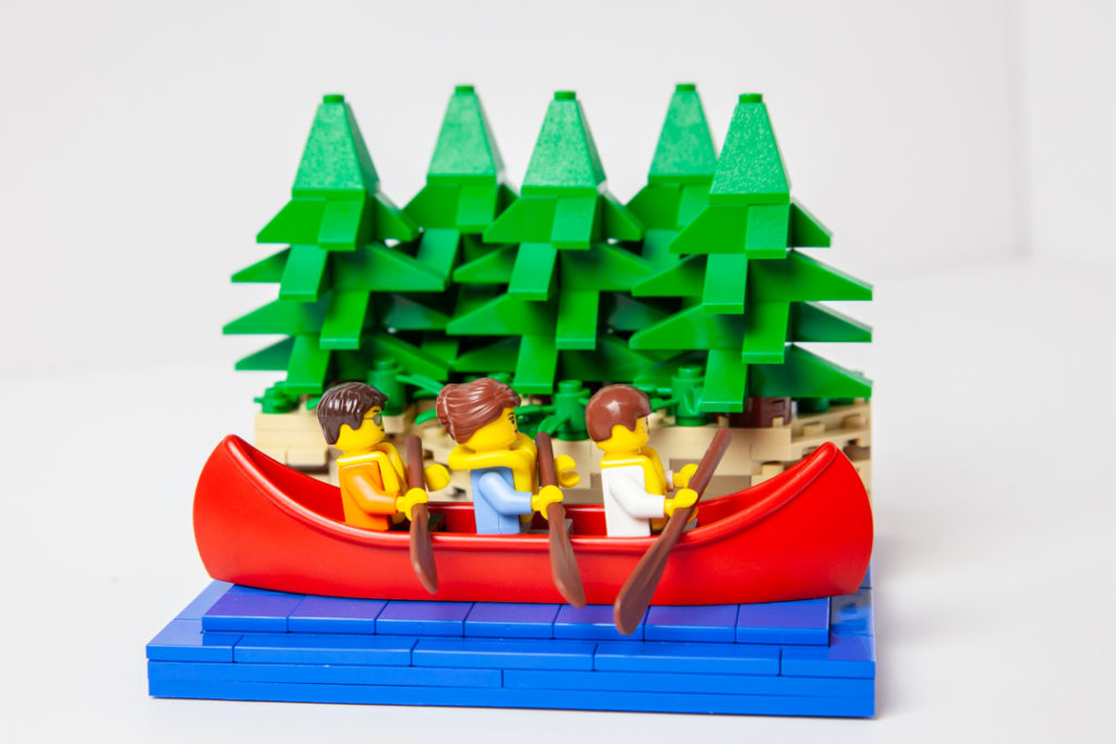 Kayaking custom Lego photo by Door County Bricks