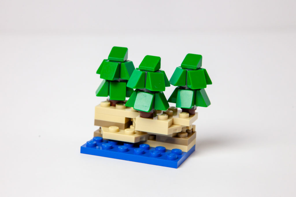 Mini Door County bluffs Lego kit by Door County Bricks