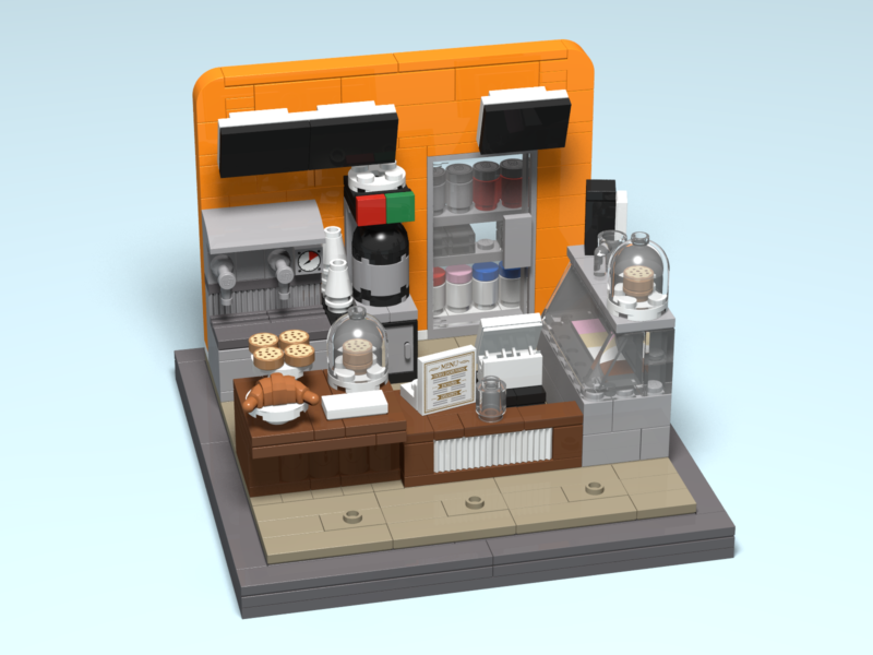 Analog Coffee custom Lego design by Door County Bricks