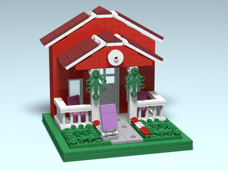 Island Lavender custom Lego design by Door County Bricks