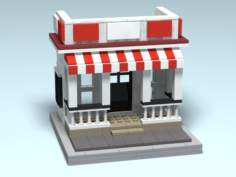 Wilson's custom Lego design render by Door County Bricks